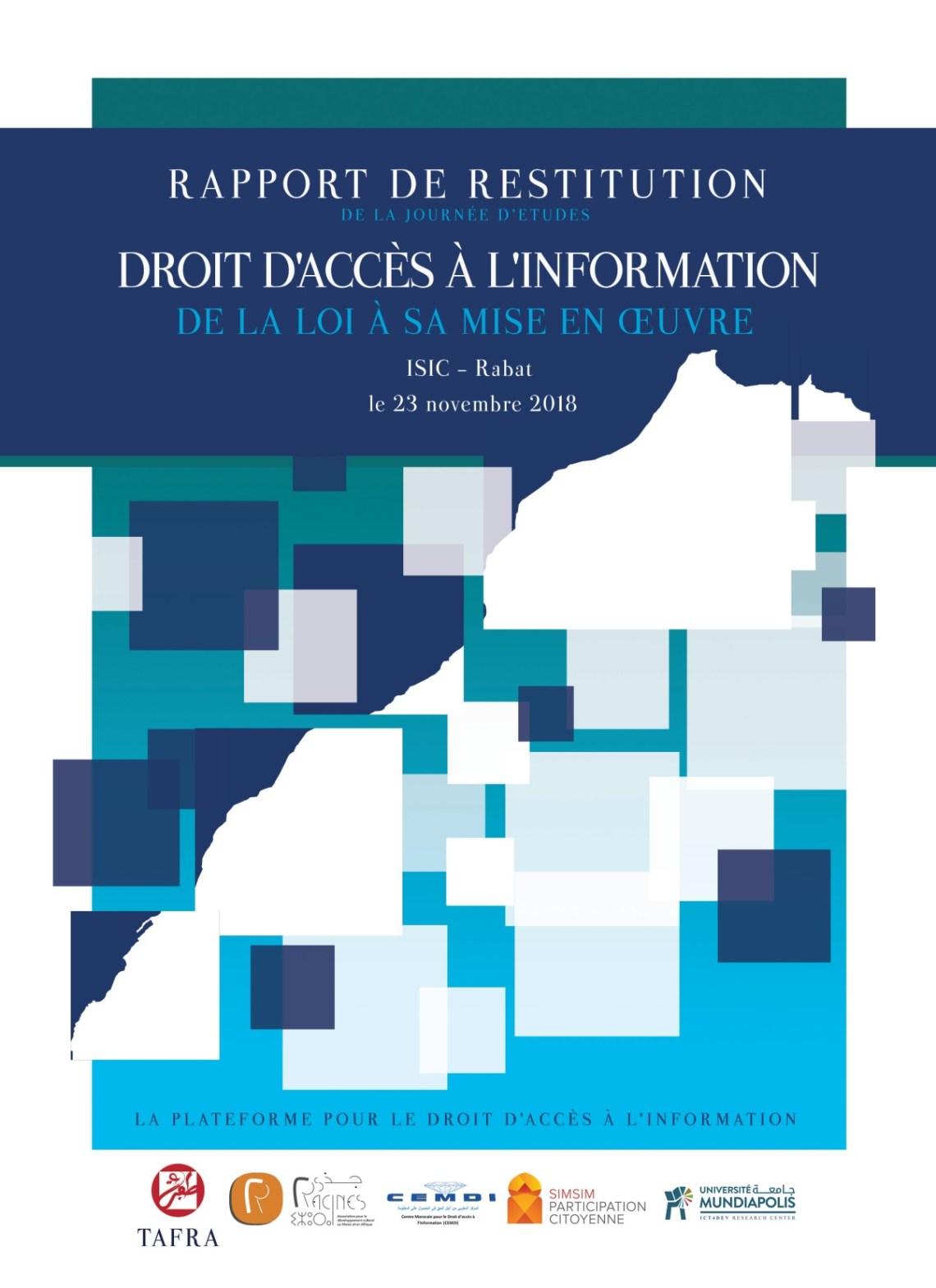 Rapport de restitution – Droit  d'accès a l'information